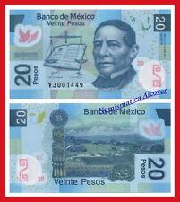 MEXICO MEJICO 20 Pesos 2012 Serial R Pick 122g SC / UNC