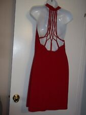 "Venus Womens Sleeveless Bodycon Dress~RED~Cowl Neck~30"" BUST~Ladder Back"
