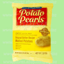 EXCEL POTATO PEARLS 4 Bags x 28oz Original Butter Recipe Mashed Potatoes