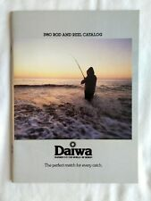 Vintage 1980 Daiwa Fishing Rods Reels Small Catalogue Sales Brochure Advertising