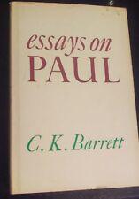 ESSAYS ON PAUL By C. K. Barrett - Hardcover UsedGood