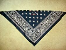 """21"""" BANDANA PRINT SCARF WITH STONES & STUDS. 100 % COTTON. 25+ YRS. OLD."""
