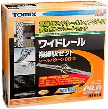 Tomix 91014 Wide Track Station Set Island Type Double Track Layout CB-D - N