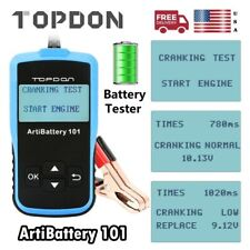 Automotive Car Battery Tester Analyzer Cranking Charging Test 12V CCA100~2000 US