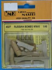 CMK CZECH MASTER'S KITS 4027 - RUSSIAN BOMBS WWII - 1/48 RESIN KIT