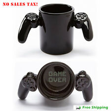Game Over Ceramic Coffee Mug Tea Cup PlayStation Controller Free Shipping N