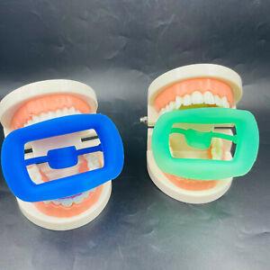 3D Dental Teeth Whitening Mouth Gag Opener Cheek Retractor Silicone 134℃ Blue/GR
