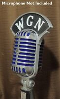Art deco Style Custom 3D Call Letters Flag for Shure 55 SH SW Vintage microphone