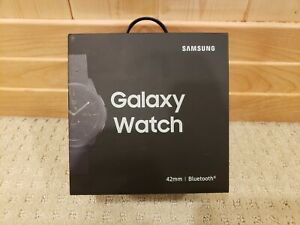 Samsung Galaxy Watch SM-R810 42mm Midnight Black Case Classic Buckle Onyx NEW