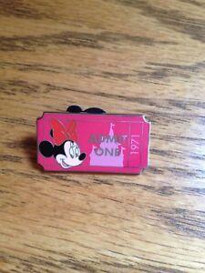 Walt Disney World MINNIE 2011 Admit One 1971 Limited Release Mystery Pin *NEW*
