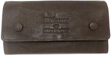 Wilsons of Sharrow - Soft Dark Brown Leather Tobacco Pouch-Rolling Accessories