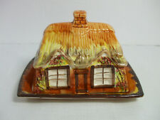 Price Bros Cottage Ware Ye Olde Cottage Butter Cheese Dish w Lid Made in England
