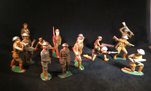 Lot of 15, Manoil , Barclay , Grey Iron, Cast Iron Vintage Toy Soldiers