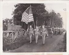 June 1942 - US Troops Marching in Northern Ireland (ID'd) - Original News Photo