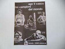 advertising Pubblicità 1975 CASCO AGV GIACOMO AGOSTINI/WALTER VILLA/KEN ANDERSON