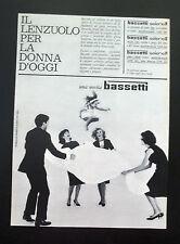 F402 - Advertising Pubblicità - 1963 - BASSETTI IL LENZUOLO SELENE