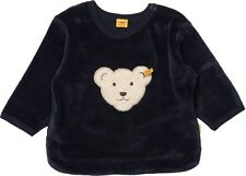 STEIFF® Nicky Sweatshirt Pullover Marine Teddy Gr. 62-86 0002881 Basic NEU!