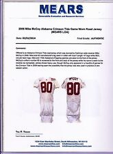 2006 Alabama Mike McCoy Game Used Football Jersey MEARS LOA