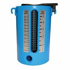 TODAYS TOOLS FLOWMATE WEIR GAUGE WATER FLOW METER CUP (ABS) Dual Scale