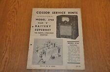 Nel modello 376 Batteria Ricevitore supereterodina Ricevitore Radio autentico vintage manuale. S.M.48