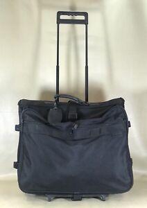 """Briggs & Riley Black Ballistic Nylon 24"""" Wheeled Garment Bag Rolling Luggage"""
