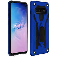 Coque Samsung Galaxy S10 Protection Bi-matière Antichoc Fonction Support bleu