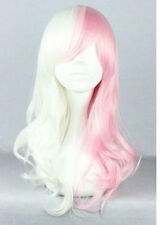 LMRA016  popular style pink white mixed lady's cosplay hair wig wigs for women