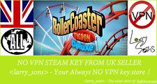 RollerCoaster Tycoon: Deluxe Steam key NO VPN Region Free UK Seller