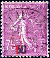 """FRANCE N° 202 Oblitéré Variété """"C DE LA VALEUR AVEC CÉDILLE"""""""