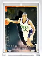 1996-97 Fleer Metal Freshly Forged #2 Ray Allen RC Rookie Insert