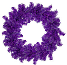 18'' Tinsel Christmas Wreath Purple Hand-Made Artificial PVC