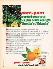 PUBLICITE ADVERTISING 104  1966  PAM-PAM   jus de fruits ORANGE