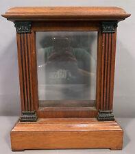 Antique EDWARDIAN Era ODDITY Haunted Item DISPLAY CASE Old MANTEL CLOCK Box