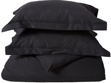 New Utopia Bedding Duvet Cover Set Queen size with Shams, Black