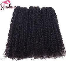 "20"" Real Peruvian/Brazilian/Malaysian Kinky Curly Human Hair Weave 150g/3bundles"