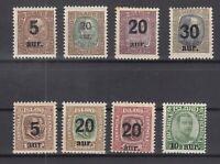 BB5654/ ICELAND – 1921 / 1925 MINT SEMI MODERN LOT - CV 255 $
