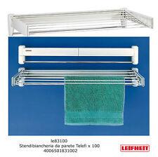 Leifheit 83100 Telegant Plus 100 stendibiancheria stendino da parete cm 100