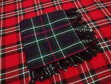 da Uomo Tartan Mackenzie Kilt patta a quadri / drappo QUADRETTI 122cmx 122cm