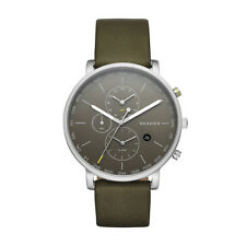 "Skagen SKW6298 ""HAGEN"" World-Time Alarm Grey Leather Watch"
