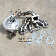 T4 AR .80 .96 Turbo + Exhaust Manifold For Toyota Supra 1JZGTE 1JZ JZX100 VVTI