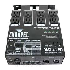 Chauvet DJ DMX-4 4-Channel Dimmer/Relay Pack Lighting Controller LED Fixtures