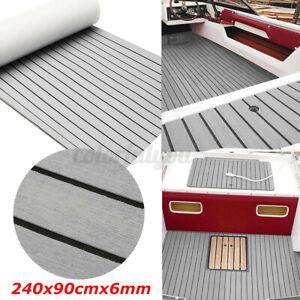 240X90cm EVA Foam Boat Yacht Floor Mat Faux Teak Decking Sheet Carpet Pad Grey