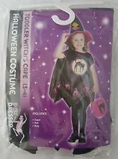 Best Dressed Fancy Dress Toddler Witch Dress Bag & Hat Age 3-4 Years