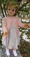 "Vintage 1950's Patti Playpal Companion Doll Life Size 35"" Oshkosh B'Gosh Dress"