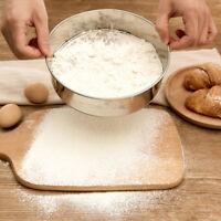 Stainless Steel Flour Sieve Colander Fine Mesh Oil Strainer Sifter Grain Filter