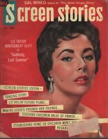 Screen Stories February 1960 Elizabeth Taylor Montgomery Clift 110119AME