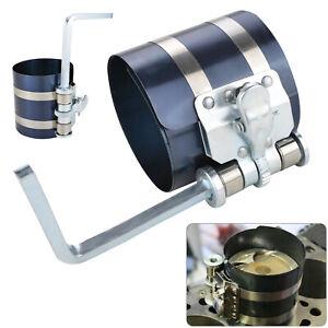 "Engine Piston Ring Ratchet Type Compressor Clamp 53mm -175mm Diam 3"" Depth"