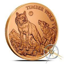 1 oz Copper Round - Timberwolf