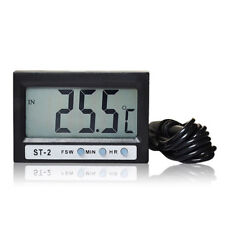In Out LCD Screen Display Dual-Way Digital Car Thermometer & Clock ST2 New