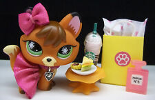 LITTLEST PET SHOP #807 RED FOX SKIRT BOW STARBUCKS SHOPPING BAG ACCESSORIES